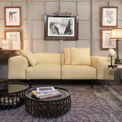 Canapé 2 places Largo / L 226 cm - Kartell blanc,jaune en tissu