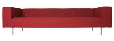 Mobilier - Canapés - Canapé droit Bottoni / 3 places - L 235 cm - Moooi - Rouge - Laine