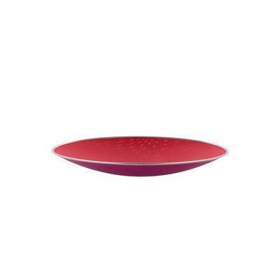 Arts de la table - Corbeilles, centres de table - Centre de table Cohncave Ø 33 cm / Alessi 100 Values Collection - Alessi - Ø 33 cm / Rouge & rose - Fil d'acier