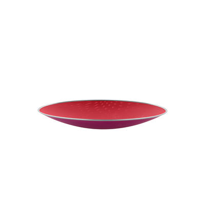 Tavola - Cesti, Fruttiere e Centrotavola - Centrotavola Cohncave - Ø 33 cm / Alessi 100 Values Collection di Alessi - Ø 33 cm / Rosso & rosa - Filo d'acciaio