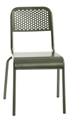 Mobilier - Chaises, fauteuils de salle à manger - Chaise Nizza - Diesel with Moroso - Gris mousse - Aluminium verni