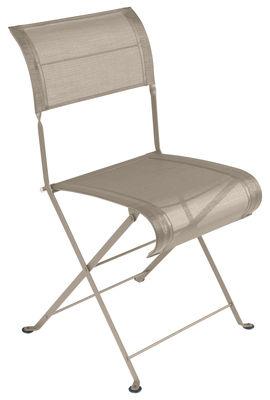 Mobilier - Chaises, fauteuils de salle à manger - Chaise pliante Dune / Toile - Fermob - Muscade - Acier laqué, Toile polyester