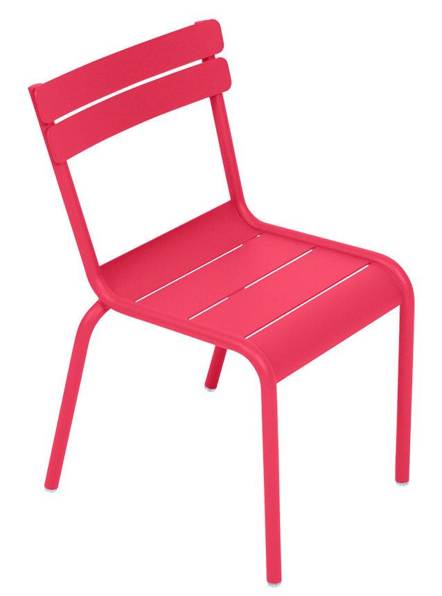 Furniture - Kids Furniture - Luxembourg Kid Children's chair - / Aluminium by Fermob - Praline pink - Lacquered aluminium