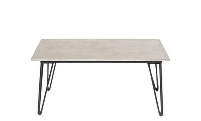 Furniture - Coffee Tables - Concrete Coffee table - / Concrete - 90 x 60 cm by Bloomingville - Grey concrete / Black - Concrete, Lacquered steel