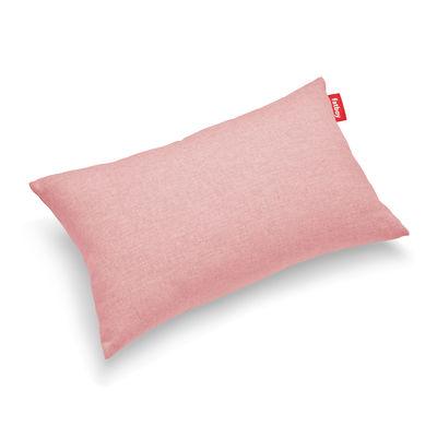 Déco - Coussins - Coussin d'extérieur King OUTDOOR / Tissu Olefin - 66 x 40 cm - Fatboy - Rose Blossom (Olefin) - Mousse polyester, Tissu Olefin
