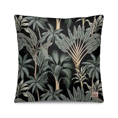 Déco - Coussins - Coussin Tresors / Velours - 45 x 45 cm - Beaumont - Palmiers n° 3 / Noir & vert - Polyester, Velours