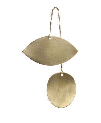 Décoration de Noël Twin Eye / Laiton - Ferm Living or en métal