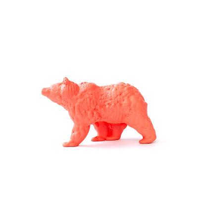 Figurine Orso Small / Céramique modelée 3D - L 18 cm - Moustache orange en céramique