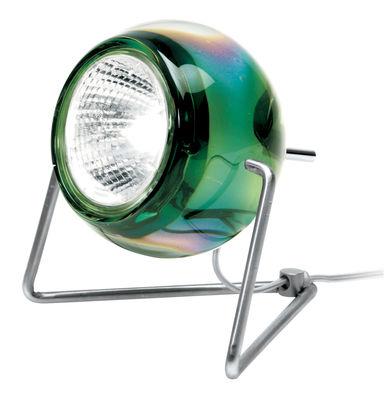 Image of Lampada da tavolo Beluga - Versione vetro di Fabbian - Verde - Metallo/Vetro