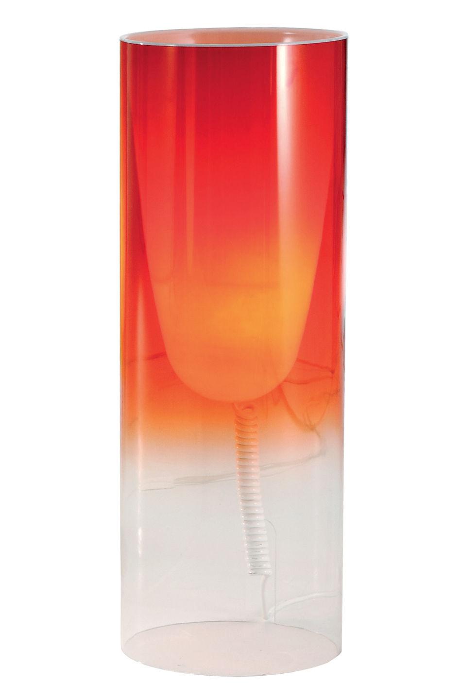 Illuminazione - Lampade da tavolo - Lampada da tavolo Toobe di Kartell - Rosso - PMMA, policarbonato