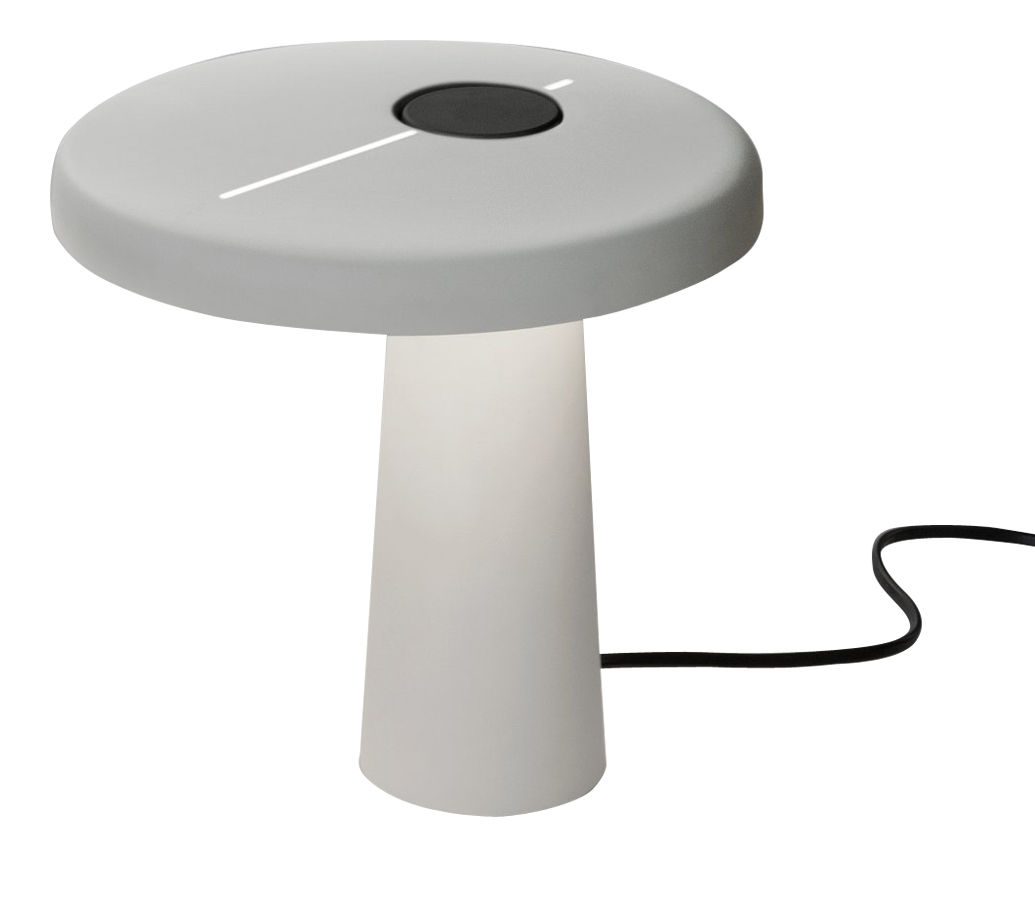 Luminaire - Lampes de table - Lampe de table Hoop LED - Martinelli Luce - Blanc - Aluminium laqué