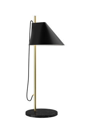 Lampe de table Yuh LED / Base marbre - Orientable - Louis Poulsen noir,laiton en métal