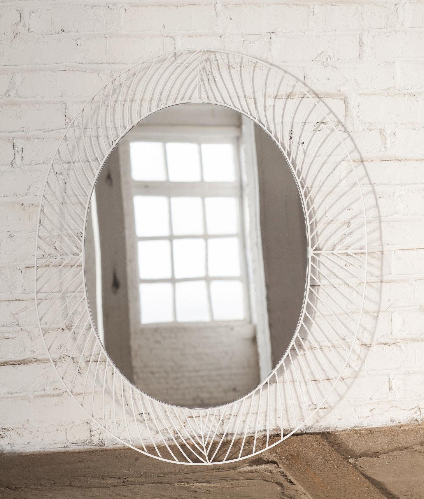 Miroir mural stilk serax blanc made in design for Miroir mural original