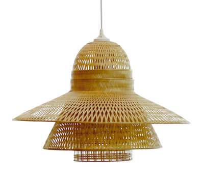 Illuminazione - Lampadari - Paralume Hanoi - / Ø 60 X H 41 cm di Pop Corn - Bambù - Bambù