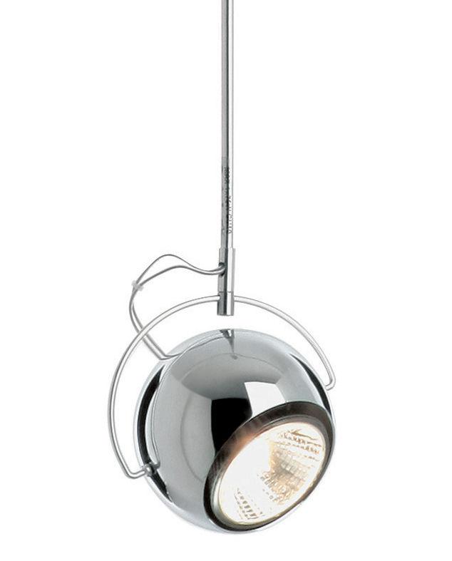 Lighting - Pendant Lighting - Beluga Pendant - Metal version - Ø 9 cm by Fabbian - Chromed - Ø 9 cm - Chromed metal