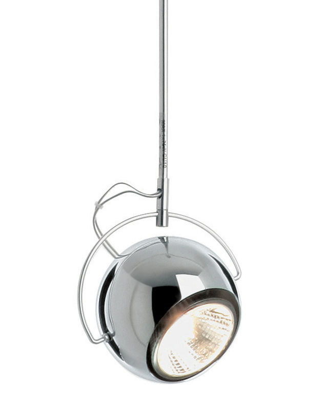 Leuchten - Pendelleuchten - Beluga Pendelleuchte Metall-Ausführung -Ø 9 cm - Fabbian - Verchromt - Ø 9 cm - verchromtes Metall