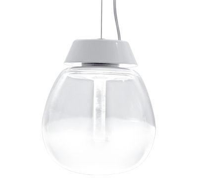 Empatia Pendelleuchte LED / Ø 16 cm - Artemide - Weiß,Transparent