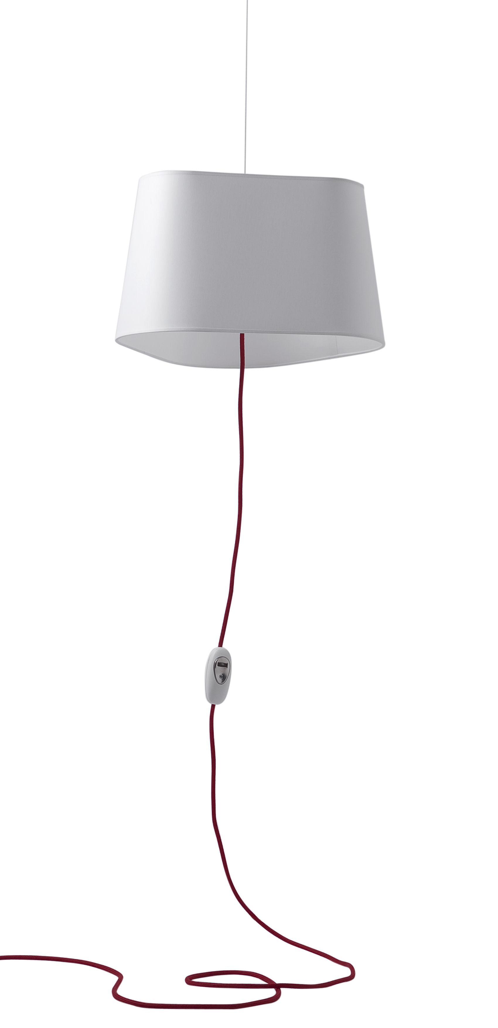 Leuchten - Pendelleuchten - Grand Nuage Pendelleuchte - Designheure - Weiß - Percaline-Baumwollgewebe - Baumwolle