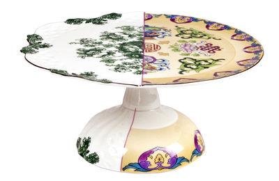 Tavola - Piatti da portata - Piatto per torta Hybrid Raissa - / Ø 26 cm di Seletti - Ø 26 cm / Multicolore - Porcellana Bone China