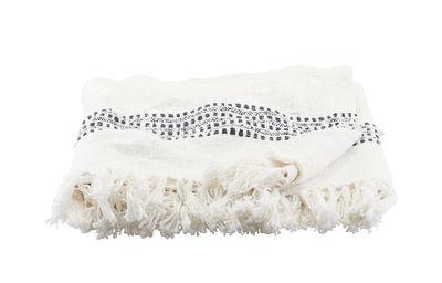 Plaid Kolonia / 180 x 130 cm - Coton - House Doctor blanc cassé en tissu