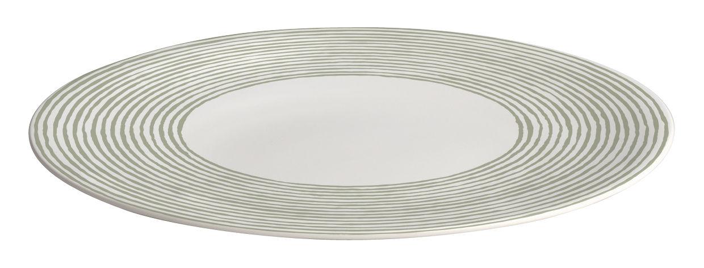 Tableware - Plates - Acquerello Plate - Ø 27 cm by A di Alessi - White / light green decoration - Bone china