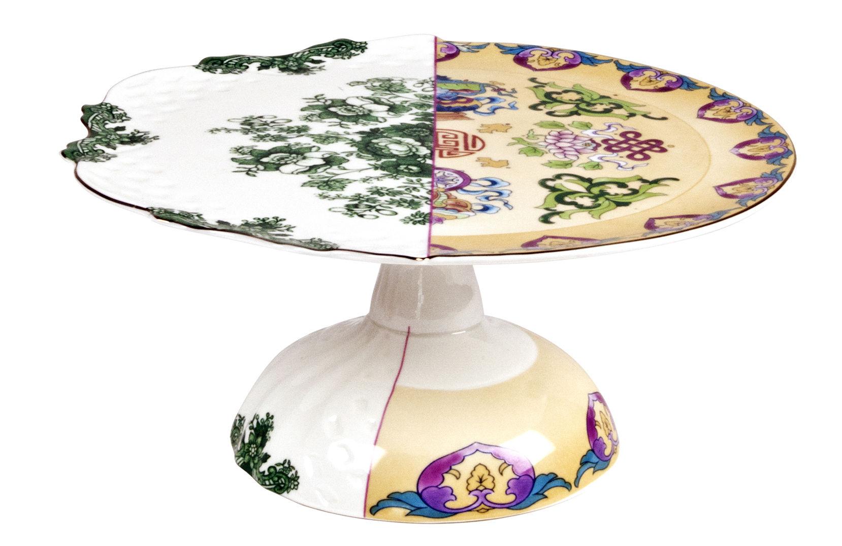 Arts de la table - Plats - Plateau à gâteau Hybrid Raissa / Ø 26 cm - Seletti - Ø 26 cm / Multicolore - Porcelaine Bone China