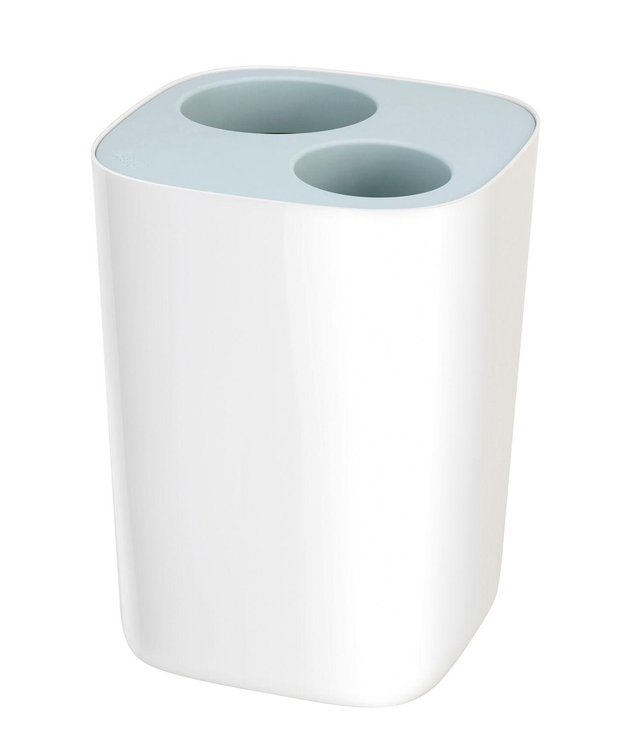 Accessoires - Accessoires salle de bains - Poubelle de tri Split / Pour salle de bains - 8 L - Joseph Joseph - Bleu & Blanc - ABS