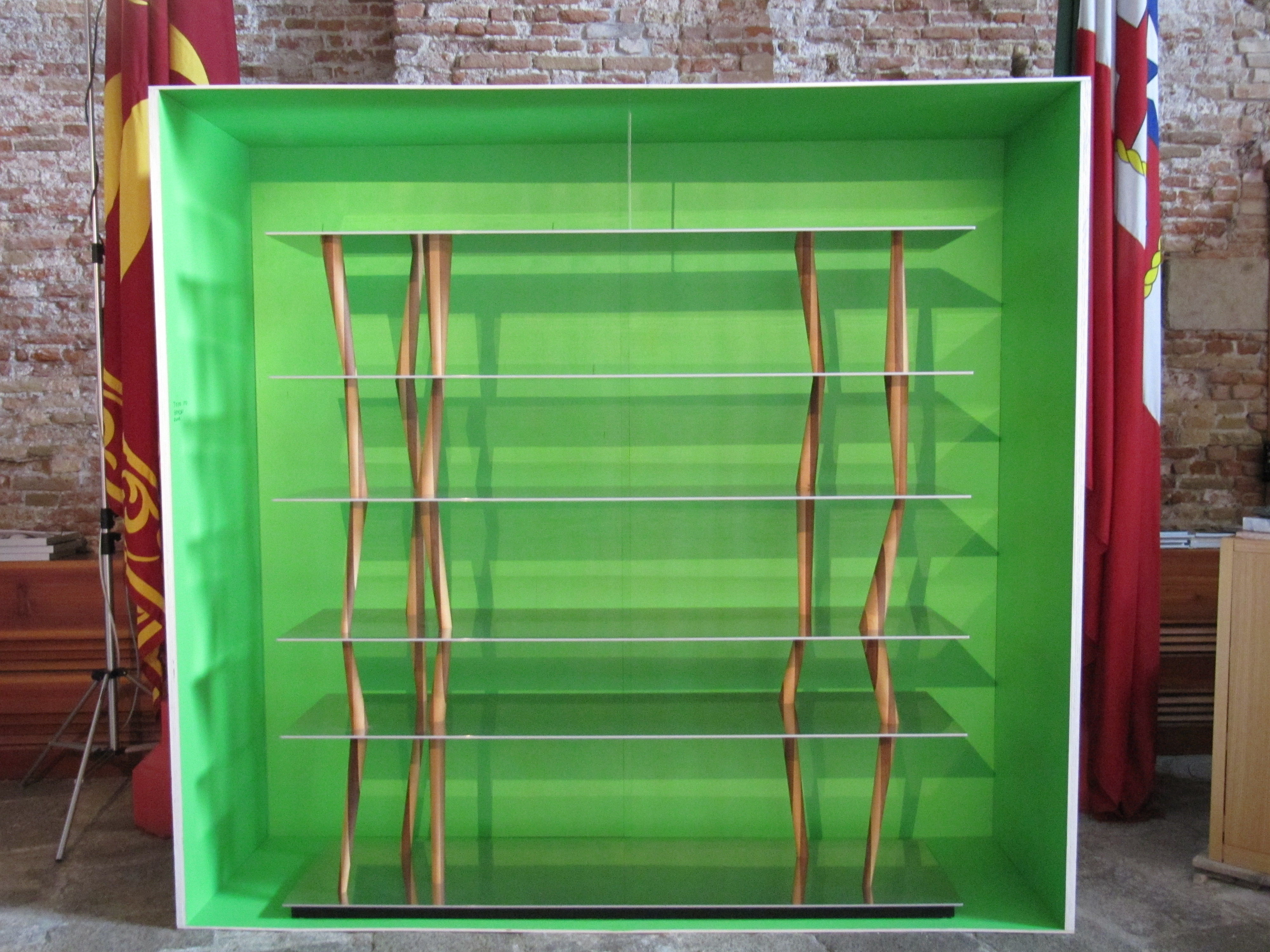 Scaffale sendai horm l 192 x h 192 cm 6 ripiani acciaio inox e