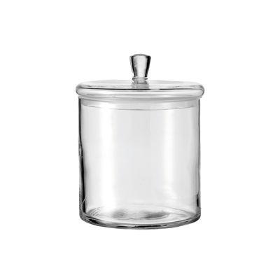Cucina - Lattine, Pentole e Vasi - Scatola Top - / Ø 15 x H 17 cm - Vetro di Leonardo - H 17 cm / Trasparente - Vetro