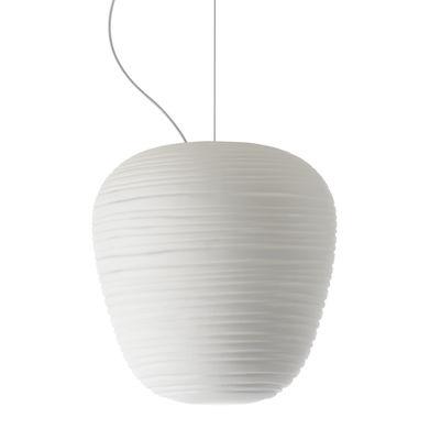 Illuminazione - Lampadari - Sospensione Rituals 3 - / Ø 19 x H 21 cm di Foscarini - Bianco / Ø 19 x H 21 cm - Vetro soffiato a bocca