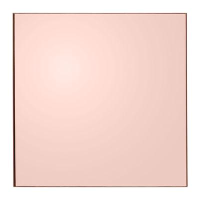 Interni - Specchi - Specchio Quadro / 90 x 90 cm - AYTM - Rosa fumé - MDF tinto, Vetro