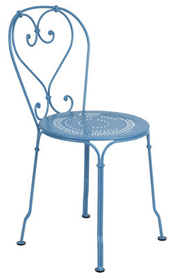 Furniture - Chairs - 1900 Stacking chair - Metal by Fermob - Turquoise - Steel