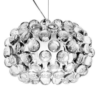 Luminaire - Suspensions - Suspension Caboche Piccola / Ø 31 cm - Foscarini - Transparent - PMMA