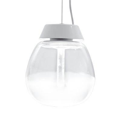 Suspension Empatia LED / Ø 16 cm - Artemide blanc/transparent en métal/verre