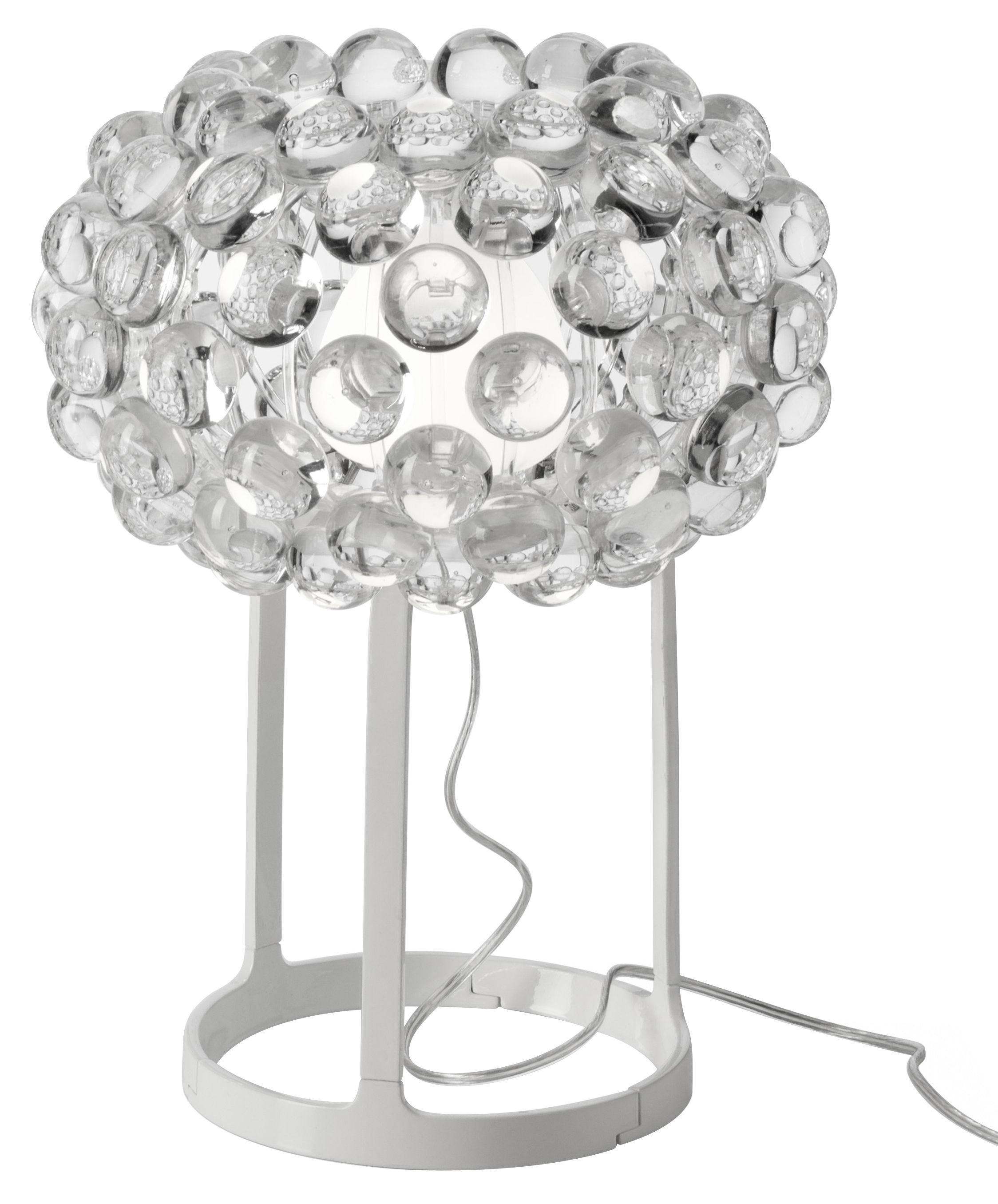 Lighting - Table Lamps - Caboche Piccola Table lamp - Piccola by Foscarini - Clear - White - Metal, PMMA