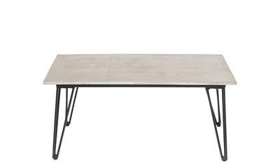 Arredamento - Tavolini  - Tavolino Concrete - / Cemento - 90 x 60 cm di Bloomingville - Cemento grigio / nero - Acciaio laccato, Calcestruzzo