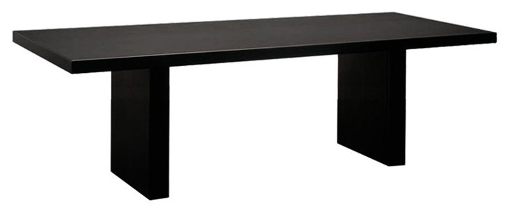 Rentrée 2011 UK - Bureau design - Tavolo rettangolare Tommaso - Versione acciaio di Zeus - 230 x 90 cm / Nero - Acciaio fosfatato