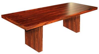 Arredamento - Tavoli - Tavolo rettangolare Tommaso - Versione legno di Zeus - 230 x 90 cm - Palissandro - MDF rivestito in palissandro