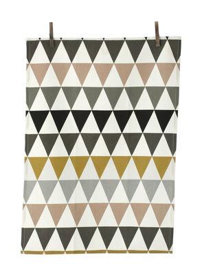 Kitchenware - Tea Towels & Aprons - Triangle Tea towel - Tea Towel by Ferm Living - Multicolored - Cotton