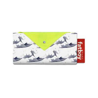 Jardin - Parasols - Tente de plage Miasun / Pliable & nomade - 150 x 220 cm - Fatboy - Fuji / Vagues fond blanc - Aluminium, Coton