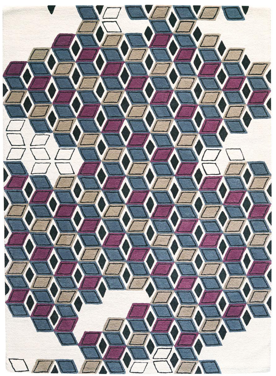 Dekoration - Teppiche - Serenissime Teppich / 170 x 240 cm - Toulemonde Bochart - Nachtblau - Wolle