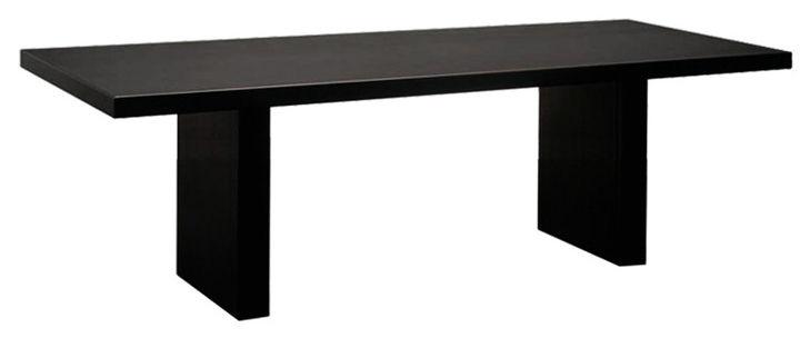 Rentrée 2011 UK - Bureau design - Tommaso Tisch Stahlvariante - Zeus - 230 x 90 cm - Schwarz - phosphatierter Stahl