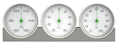 Accessories - Home Accessories - Météo Weather station by Magis - Grey / Green dial - ABS
