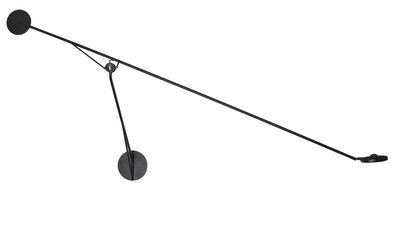 Luminaire - Appliques - Applique Aaro LED / L 155 cm - Bras mobile - DCW éditions - Noir - Acier, Aluminium anodisé