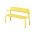 Toní Bankski Bench with backrest - / L 127 cm - Perforated aluminium by Fatboy