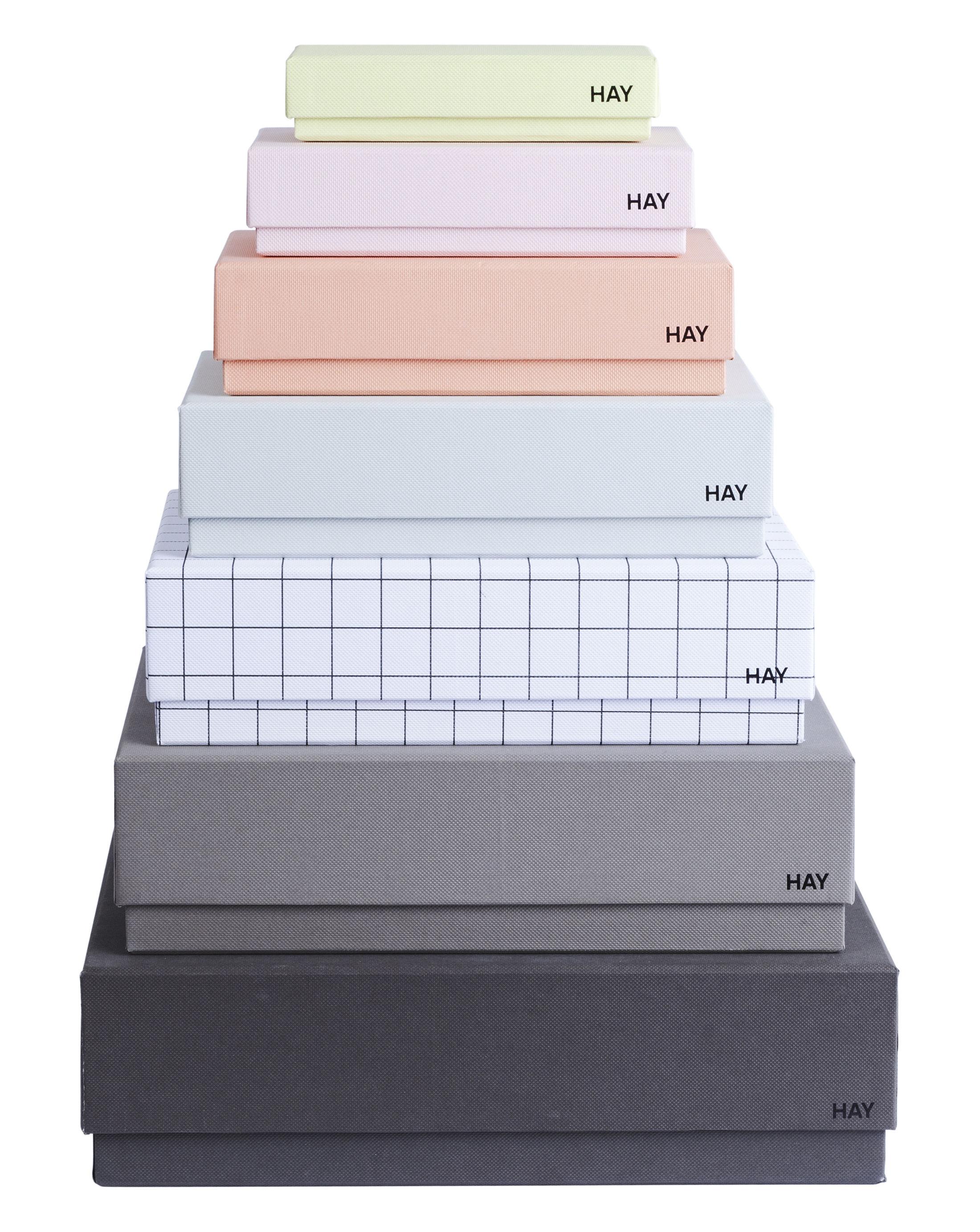 Accessoires - Accessoires bureau - Boîte Box Box / Set 7 boîtes - Hay - Set 7 couleurs féminines / Multicolore - Carton