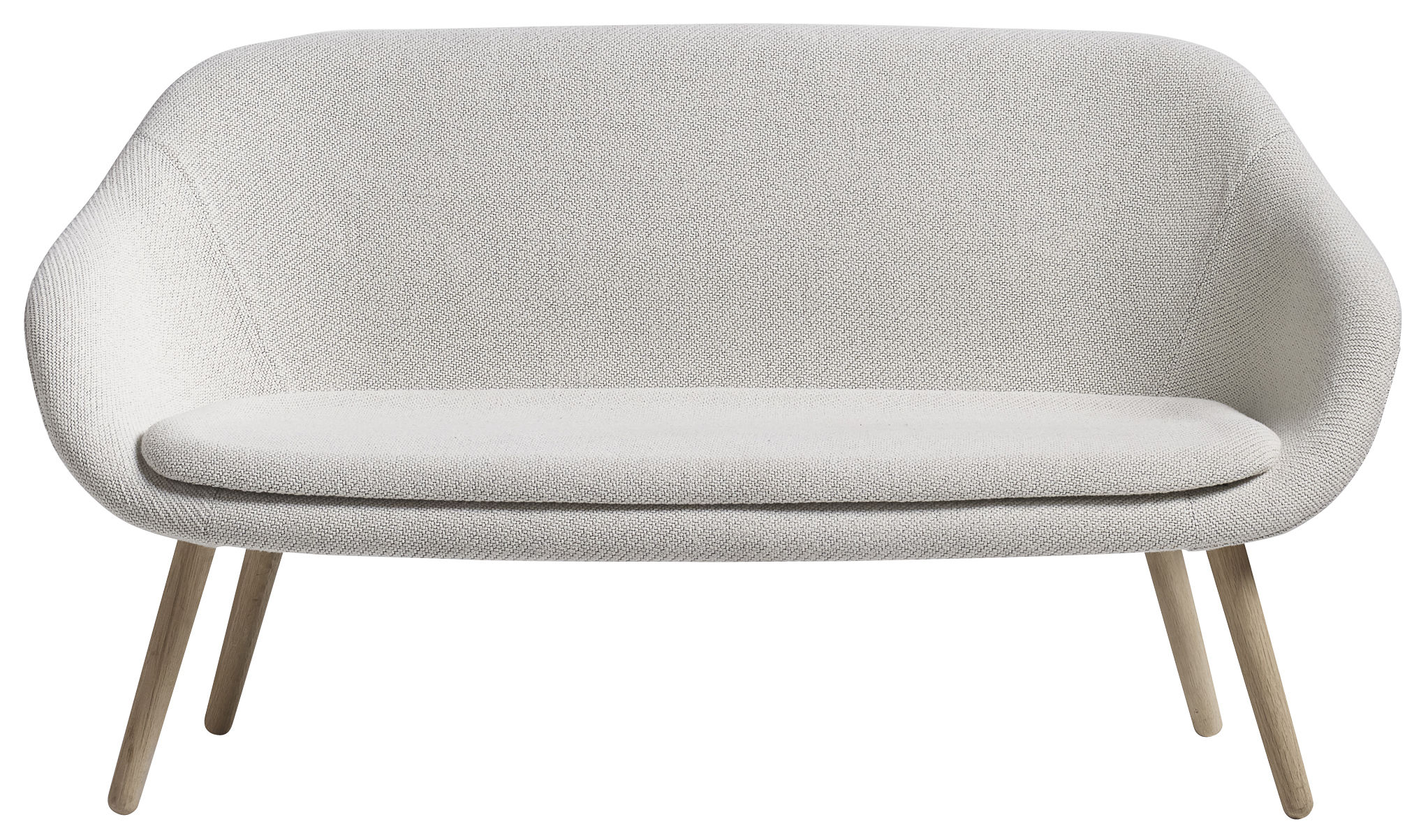canap droit about a lounge sofa for comwel l 150 cm 2 places blanc bois naturel hay. Black Bedroom Furniture Sets. Home Design Ideas