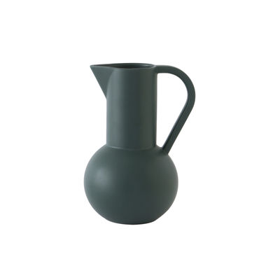 Tableware - Water Carafes & Wine Decanters - Strøm Small Carafe - / H 20 cm - Handmade ceramic by raawii - Gables green - Ceramic