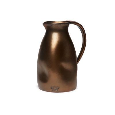 Image of Caraffa Bosselée - / Ø 13,5 x H 24 cm - Ceramica di Dutchdeluxes - Rame/Metallo - Ceramica