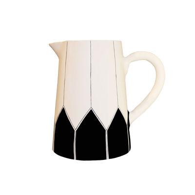 Tavola - Caraffe e Decantatori - Caraffa Daria - / Ceramica dipinto a mano di Maison Sarah Lavoine - Nero - Ceramica smaltata